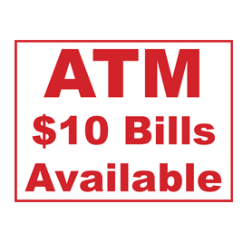 10 Bill Atm Sign Best Products